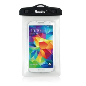 Becko Clear Waterproof Case Touch Responsive Front and Back, Universal Waterproof Wallet, Dry Bag, Pouch for 4.7 Cell