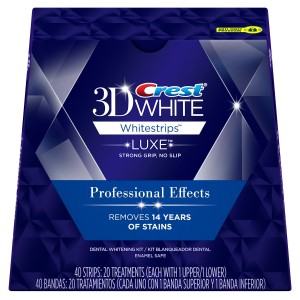 Crest 3D White Luxe Whitestrips Professional Effects - Teeth Whitening Kit 20 Treatments