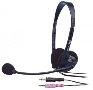 Cyber Acoustics AC-200 3.5MM Plug Stereo Speech Headset Boom Mic
