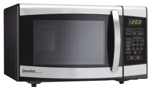 Danby Designer 0.7 cu.ft. Countertop Microwave, BlackStainless Steel