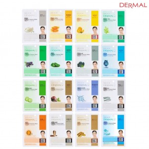 Dermal Korea Collagen Essence Full Face Facial Mask Sheet 16 Combo Pack