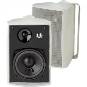 Dual LU43PW IndoorOutdoor Speakers (White)