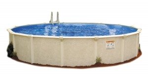 Embassy Pool 4-2400 PARA100 Above Ground Swimming Pool, 24-Feet by 52-Inch, Creamy Tan