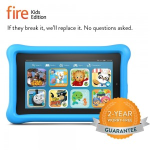 Fire Kids Edition, 7 Display, Wi-Fi, 8 GB, Blue Kid-Proof Case