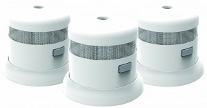 First Alert SMOKE1000-3 Atom Micro Photoelectric Smoke Alarm 3 Pack