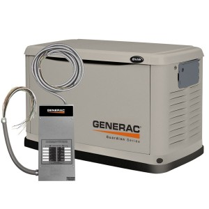 Guardian 6551 Generac 22kW Home Standby Generator with 200-Amp Service Rated Transfer Switch and Fascia Kit