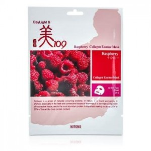 MITOMO Day Light & Mi 109 Essence Mask - Raspberry Collagen 10x25g0.8oz