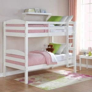 Mainstays Twin over Twin Wood Bunk Bed