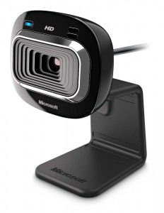 Microsoft LifeCam HD-3000 Webcam - Black (T3H-00011), 720p HD 169 Video Chat, Skype Certified