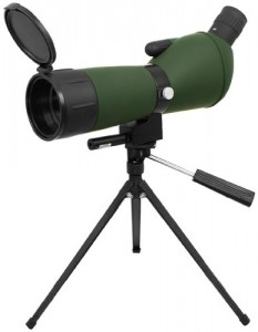 NcStar 20-60 X 60 Green Lens Red Laser Spotting Scope with Tripod