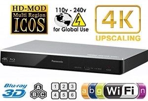 PANASONIC DMP-BDT270 2K4K Multi Region All System Blu Ray Disc DVD Player - PALNTSC - 2D3D - Wi-Fi - 100~240V 5060Hz World-Wide Use & 6 Feet HDMI Cable
