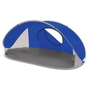 Picnic Time Manta Portable Pop-Up SunWind Shelter, Blue