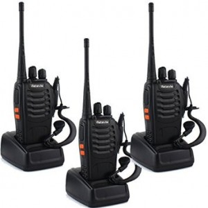 Retevis H-777 Walkie Talkie UHF 400-470MHz 3W 16CH CTCSSDCS VOX Illumination Flashlight with Original Earpiece 2 Way Radio Ham Radio Transceiver (3 Pack)