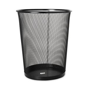Rolodex Mesh Round Wastebasket, 11-12 Diameter x 14-14 H, Black (22351)