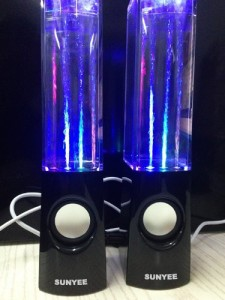 SUNYEE (TM) Plug And Play Multi-Colored Illuminated Dancing Water Speakers (SUNYEE Black)