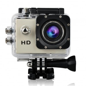 Sancang 1080P 12MP Full HD Waterproof Action Sports Helmet Camera Cam DV(Silver)