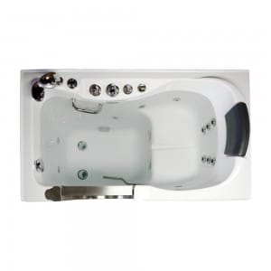 Steam Planet Northeastern Bath MG304WA 52-in. Walk-in Tub with Heated Water and Air Jets