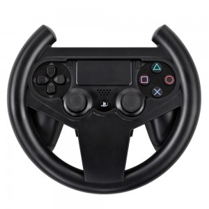 TNP PS4 Gaming Racing Steering Wheel - Gamepad Joypad Grip Controller for Sony Playstation 4 PS4 Black [Playstation 4]