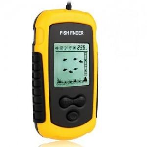 Venterior Portable Wired Fish Finder LCD Display Sonar Sensor Fishfinder Alarm Transducer Fishfinder