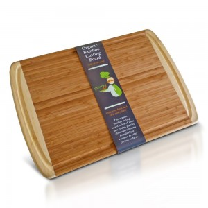 #1 Best ORGANIC Bamboo Wood Cutting Board with Groove - Beautiful Extra Large Holiday Serving Tray & Turkey Platter 18x12 - Great Idea for Wedding Presents or Christmas Gifts to Family & Friends