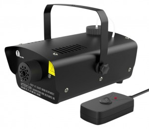 1byone O00QL-0041 Mini Fog Machine 400-Watt with Wired Remote Control