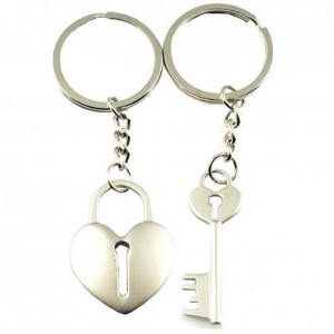 4EVER Color Gift Box Packaging Cross Arrow Piece Love Heart Lock Key Couple Keychains