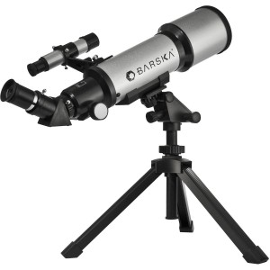 BARSKA Starwatcher 400x70mm Refractor Telescope w Tabletop Tripod & Carry Case