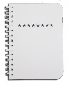 BookFactory® Password Journal Password Diary Mini Pocket Passwords Notebook, 120 Pages - 3 12 x 5 14, Durable Thick Translucent Cover, High Quality