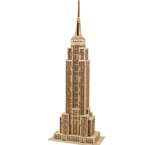 Coeus 3d Wooden Puzzle DIY Model - World Architectures- The Empire State Building -Educational Games for Kids 3d Puzzles for Adults