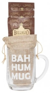 Cutie Cups Bellagio Cocoa Funny Christmas Coffee Mug Gift Set, 20 Oz (Bah Hum Mug)