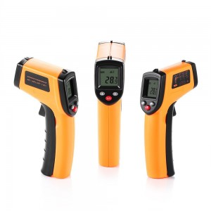 Digital IR Infrared Thermometer,Non-contact LCD Laser Temperature Gun - -50 ~ 380℃(-58 ~ 716℉), Instant-read Handheld,2AAA Batteries Included,Auto Power OffBacklight ONOFF (GM320)