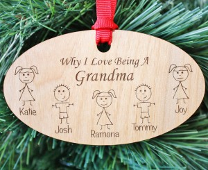 Grandparent Christmas Ornament, Grandma Gift, Grandparent Gift, Grandpa Gift, Personalized Grandma Ornament, Christmas, ORN03