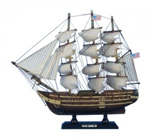 Handcrafted Nautical Decor USS Constitution Tall Ship, 15