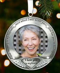 I Thought of You with Love Today Brushed Metal Photo Ornament - Memorial Ornament Engraved with Your Memory Is My Keepsake - Gift Box - Loss of a Loved One - Bereavement Gift - In Loving Memory