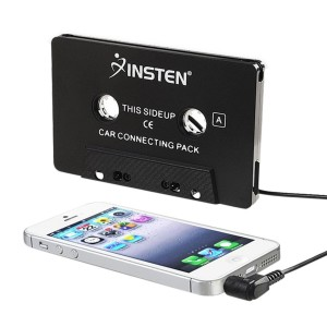 INSTEN 3.5mm Universal Car Audio Cassette Adapter for Smartphones, 3-Feet Cord (Black)