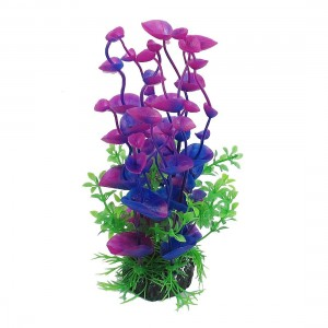 Jardin Landscaping Water Plant Decoration for Aquarium, 8.3-Inch, PurpleGreen
