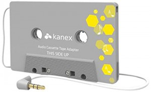 Kanex Car Audio Cassette Tape Adapter 3.5 mm AUX - Retail Packaging - Gray