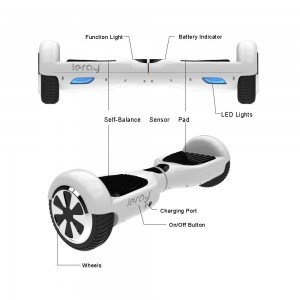 Leray Self Balancing Scooter Balance Motion 6.5 Two Wheel Hoverboard with Certified Safe Battery Pack