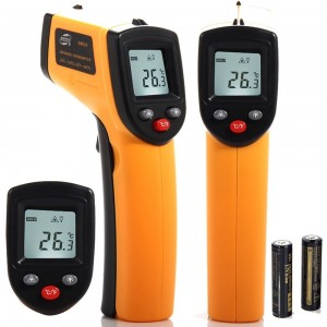 Masione® Temperature Gun Non-contact Digital Laser Infrared Ir Thermometer -58°f to 716°f (-50 ~ 380℃) Instant-read Handheld,battery Included