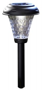 Moonrays 91381 Payton Solar-Powered Plastic LED Path Light, 8-Pack, Black