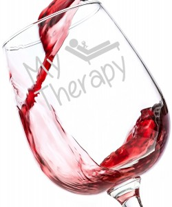My Therapy Funny Wine Glass 13 oz - Perfect Christmas Gift for Women, Unique Novelty Christmas Present Idea for a Mom, Wife, Girlfriend, Daughter, Sister, Coworker or Friend - Secret Santa for Her