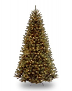 National Tree 7-12-Foot Prelit Artificial North Valley Spruce Tree, 550 Clear Lights