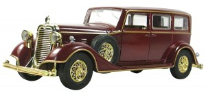 NuoYa001 NEW 132 Wine Red Cadillac classic cars Diecast Car Model Collection W light&sound