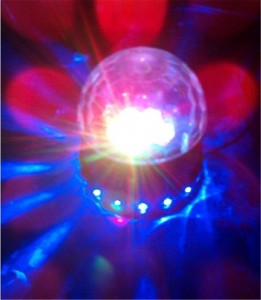 PYSICAL(TM) Black LED RGB Crystal Rotating Magic Ball Sunflower Colorful Lighting Lamp, Perfect Christmas Gift, Best for Party, Disco Dj Stage Light, Stage Lighting for Xmas Party Club Pub Birthday