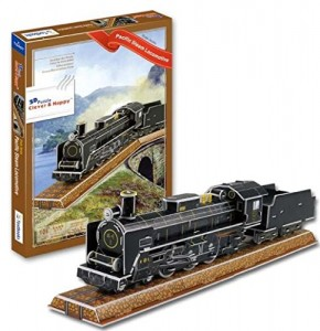 Pacific Steam Locomotive Train 3 D Puzzle Model Kit