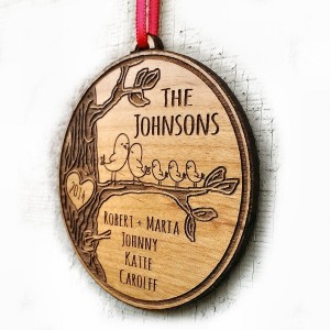 Personalized Family Christmas Ornament Gift Christmas Ornament 2014 2015 Family Name Year