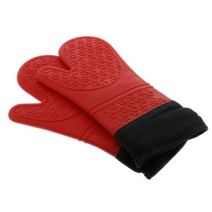 Silicone Oven Mitts - Extra Long Heat Resistant BBQ Kitchen Gloves