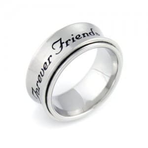 Spinner Ring Forever Friends, Spinner Best Friends Ring, Best Gift for Friend For Any Occasion