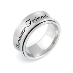 Spinner Ring Forever Friends, Spinner Best Friends Ring, Best Gift for Friend For Any Occasion