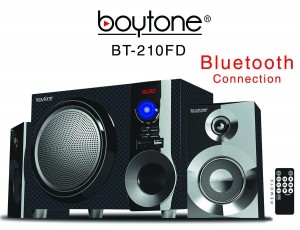 Boytone BT-210FD Wireless Bluetooth 30-Watt Speaker System with FM Radio and Remote Control